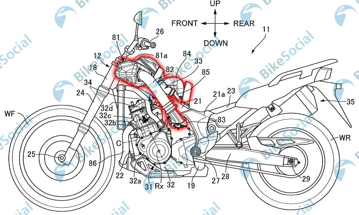 A supercharged version of Honda's Africa Twin is being developed at the firm's R&D facility in Japan – as revealed in new documents filed with the Japanese Patent Office.