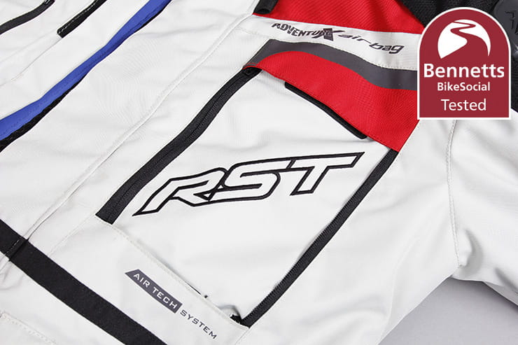 The RST Pro Series Adventure-X Airbag is one of the most protective motorcycle jackets available thanks to its CE approval and In&Motion airbag. Full review
