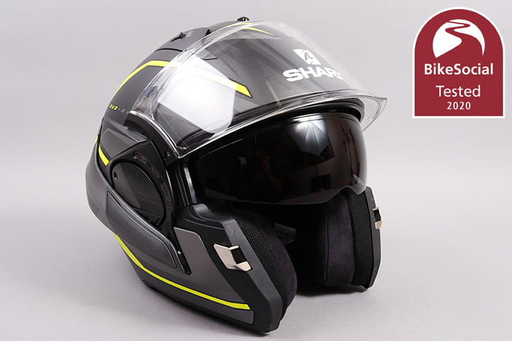 The Shark Evo ES doubles as a full-face and an open-face or jet helmet. But how noisy is it, and how comfortable over 2,000 miles can it be? Full review…