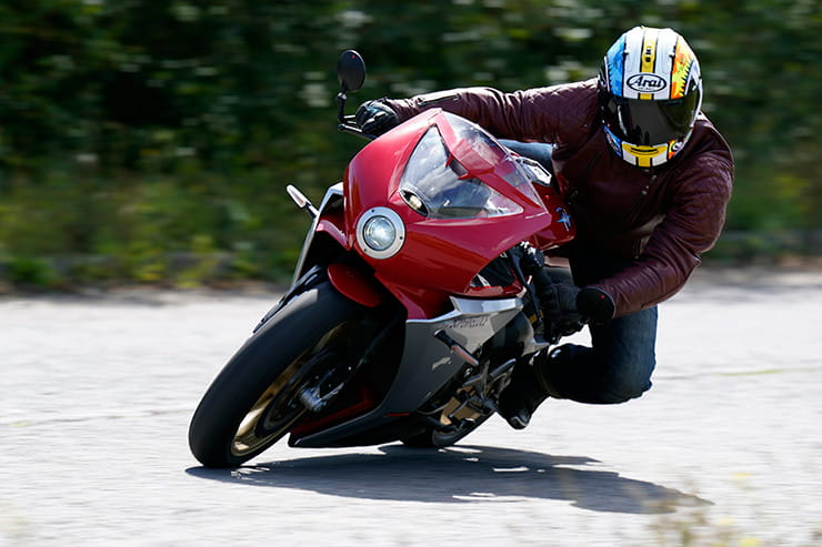 We test MV Agusta's retro stunner, the Superveloce. New for 2020, based on MV's sharp handling F3 800 and surely one of the best-looking production bikes ever