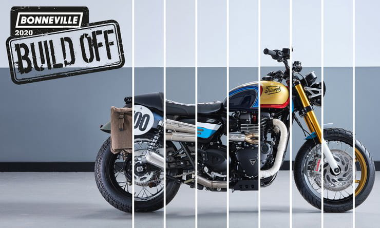 Triumph's 2020 Bonneville Build-Off kicks off today. Vote for your favourite Bonnie.