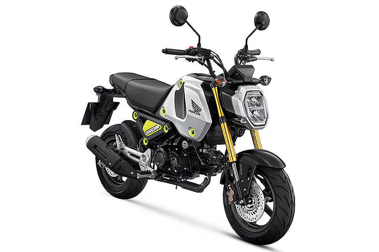 Honda MSX125 Grom in Silver & Yellow