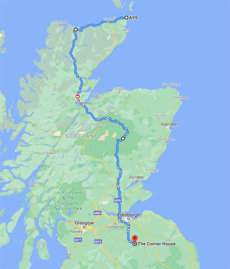 Lands End to John OGroats Motorcycle Routes_06