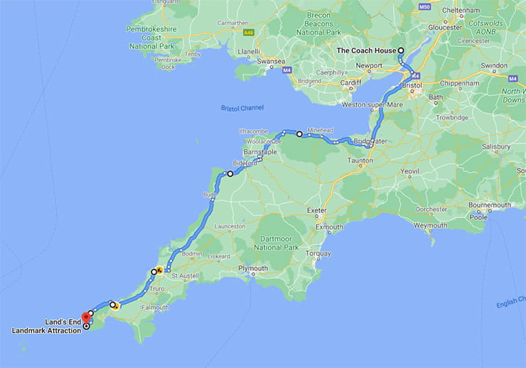 Lands End to John OGroats Motorcycle Routes_11