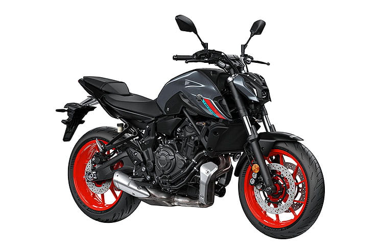 2021 Yamaha MT-07 Black Red Wheels