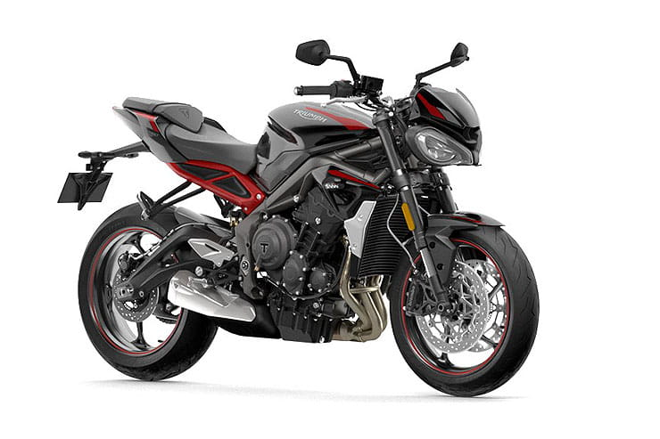 2021 Triumph Street Triple R Red Grey