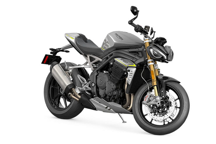 2021 Triumph Speed Triple 1200RS Silver Yellow Flashes
