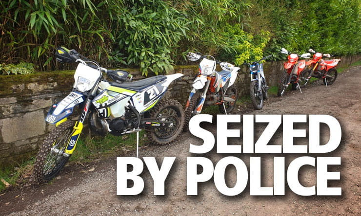 police seize off road motorcycles crime_THUMB