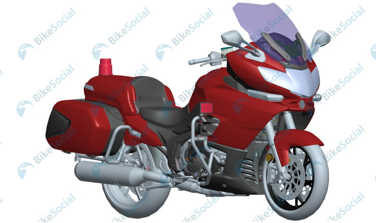 Benelli 3-cylinder 1200cc scooped