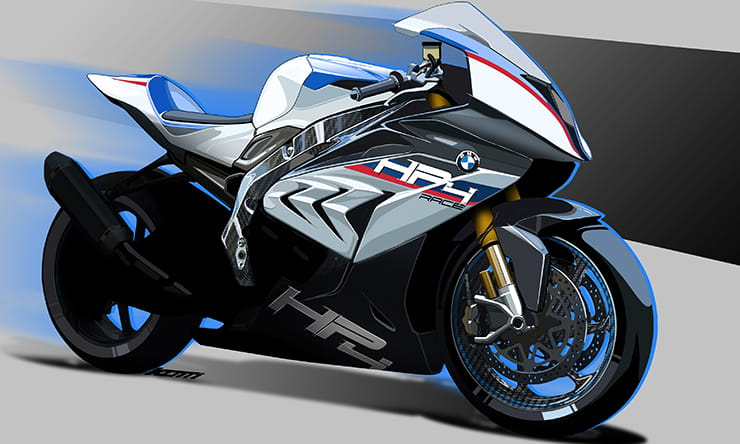 Concept HP4 RACE bike in race colours