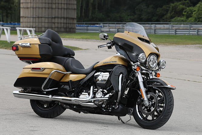 Harley-Davidson Ultra Limited with its new 2017 Milwaukee-Eight engine