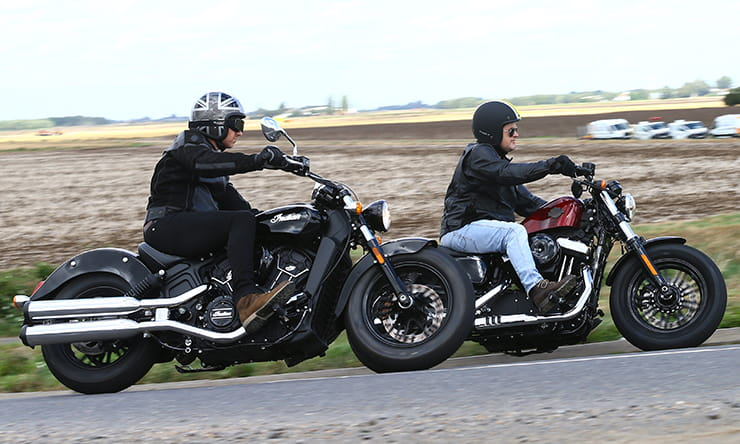 Harley-Davidson Forty-Eight and Indian Scout Sixty