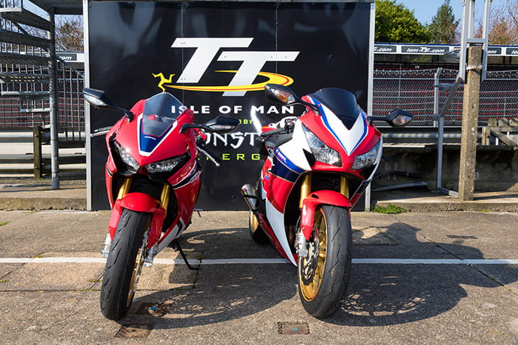 2017 Fireblade is smaller than the 2016 version