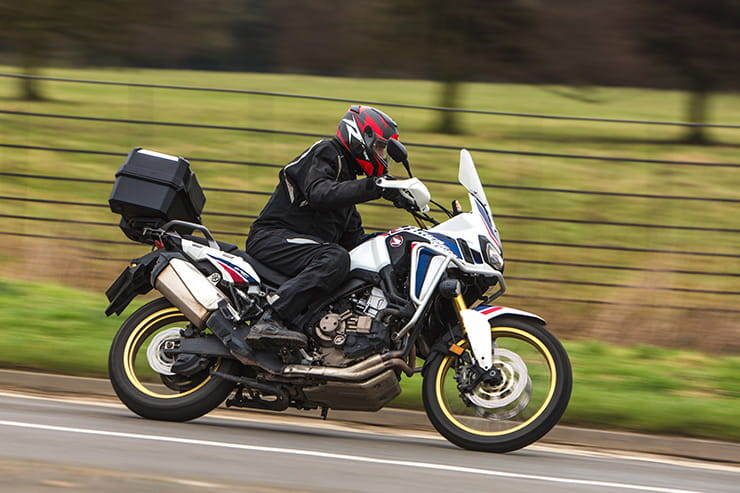 Honda Africa Twin tested through winter