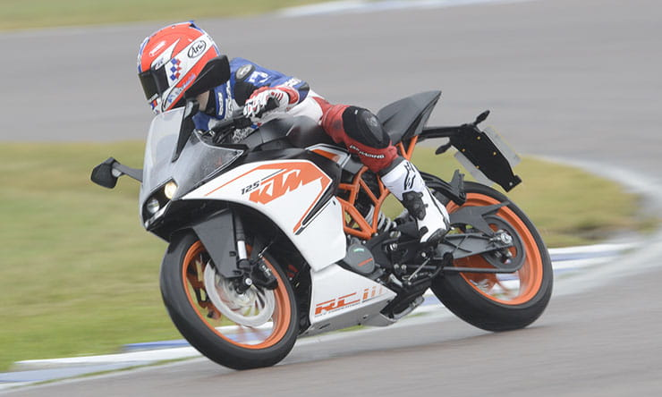 Rory Skinner rides the KTM RC 125