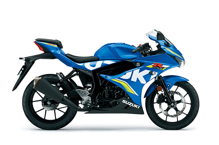 GSX-R125 available in Triton Blue