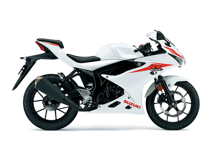 GSX-R125 available in White