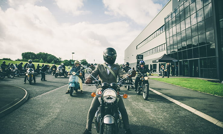 Start of the DGR ride to Coventry from Triumph