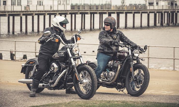 Bobbing and weaving: Triumph Bonneville Bobber vs Harley ...