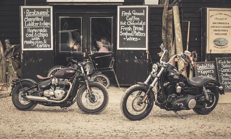 Triumph Bonneville Bobber Harley Davidson
