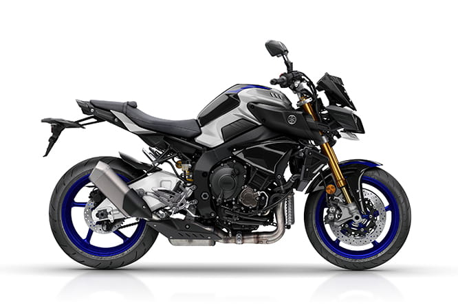 Side shot of the Yamaha MT-10 SP