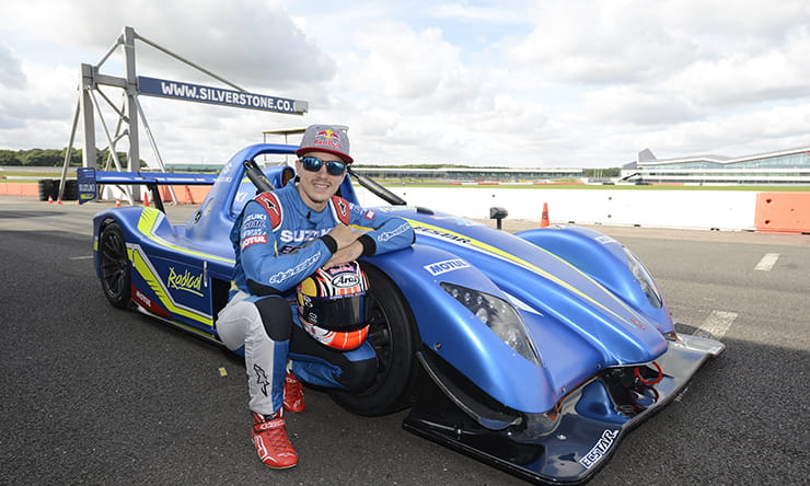 Maverick Vinales with the Radical SR3 race machine