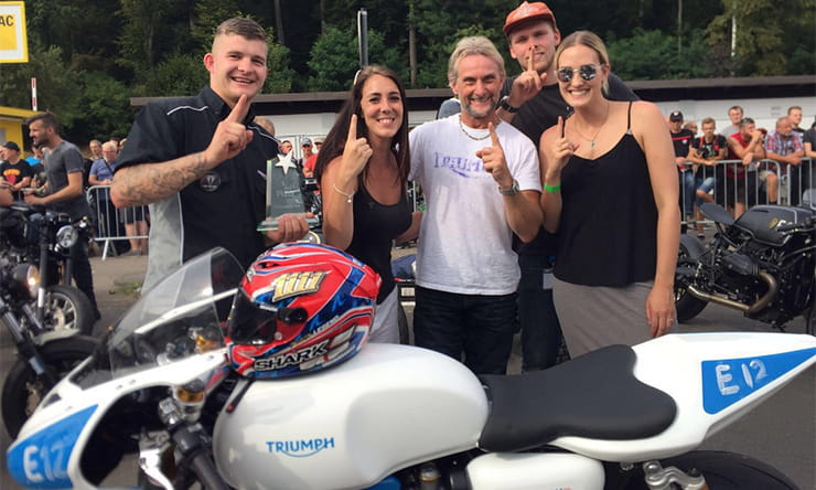 Carl Fogarty and the Triumph team take victory