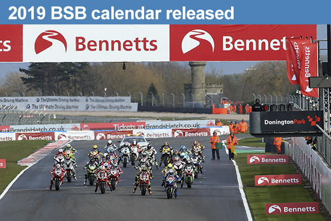 2019 British Superbike calendar released