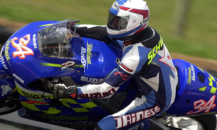Kevin Schwantz in action in 2000