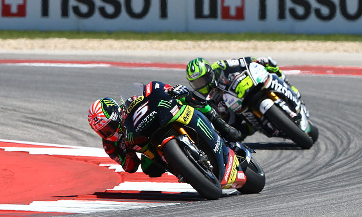 Zarco leads Crutchlow at the Austin MotoGP 2017