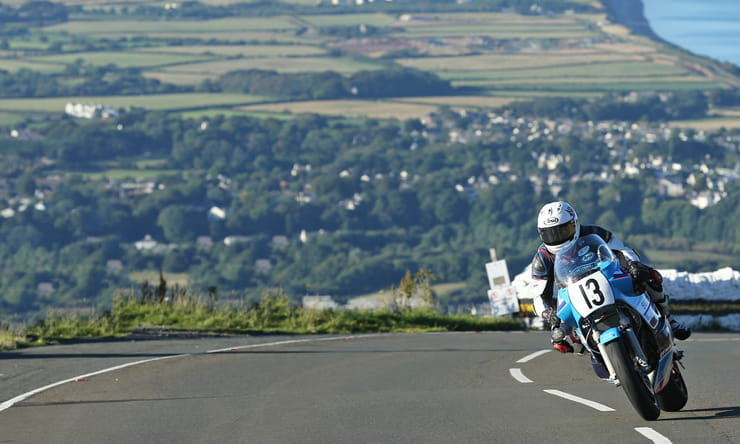 Lee johnston at the Classic TT races