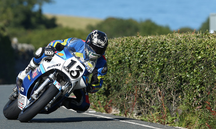 Lee Johnston at the Classic TT