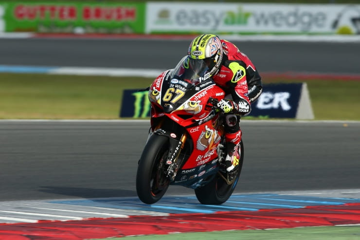 Shakey under the race lap record at Assen