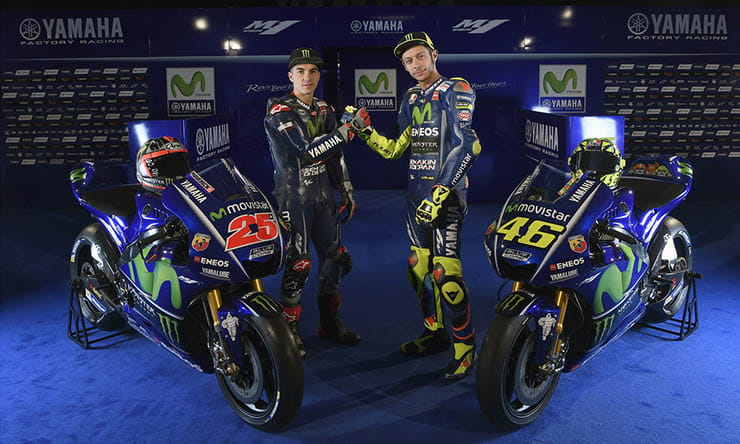 Maverick Vinales and Valentino Rossi