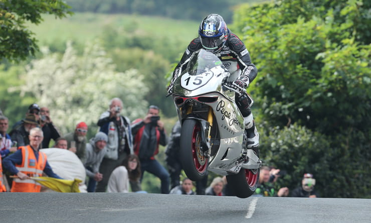 Dave Johnson Isle of Man TT race 2016 Norton SG5 Superbike Race