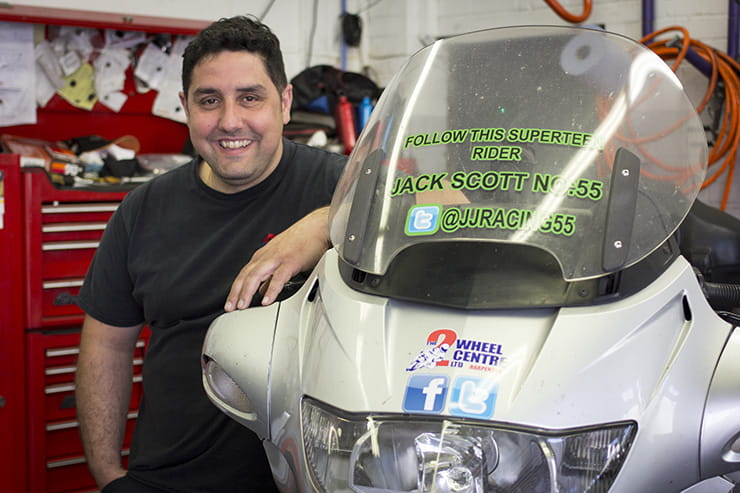 Nick Nomikos manager of the Two Wheeled Centre in Harpenden