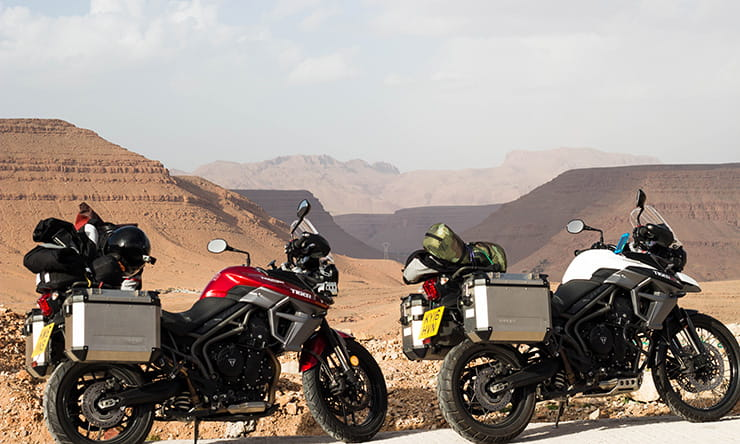 The Tempest Two ride to the Sahara Desert on Triumph Tiger 800
