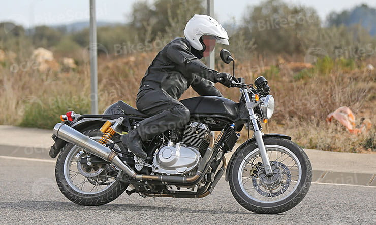 Spy shots of Royal Enfield 750