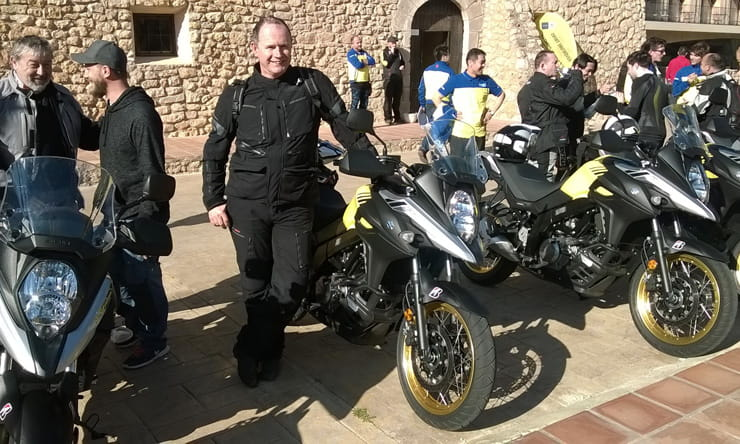 Phil west at the launch of the 2017 Suzuki V-Strom 650