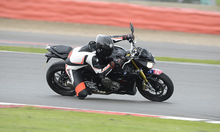 The BMW suspension suits the track more than the Yamaha