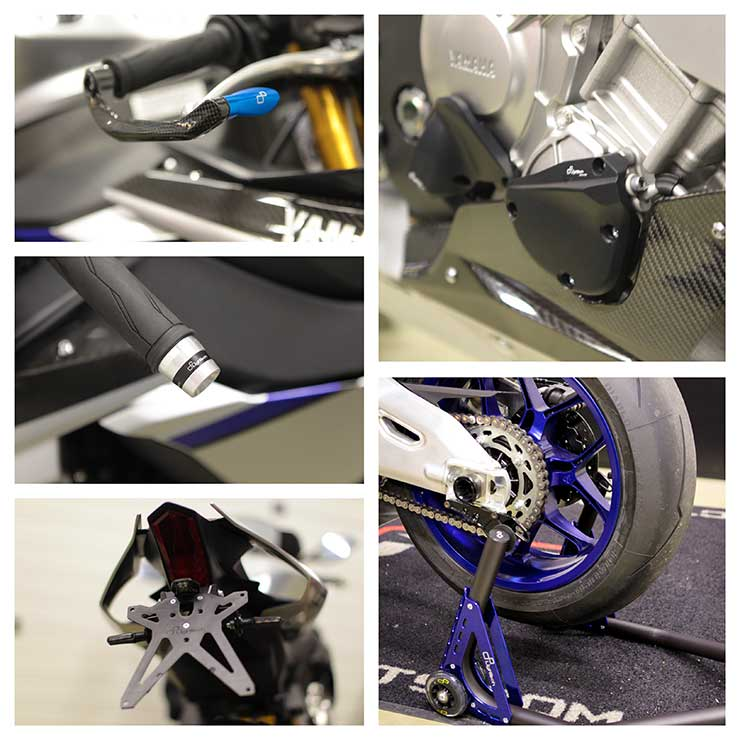 Yamaha R1M , Reactive Parts, Lighteck , Reactive Parts , Tail Tidy, Lever Protection, Engine Protection, Paddock Stand