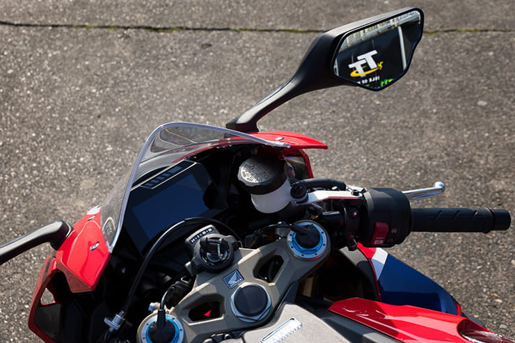 Controls and dashboard of the Fireblade