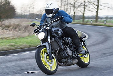 Jon Urry on Yamaha MT-07