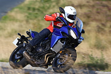 Guest tester Jon Urry enjoys the Tracer 700