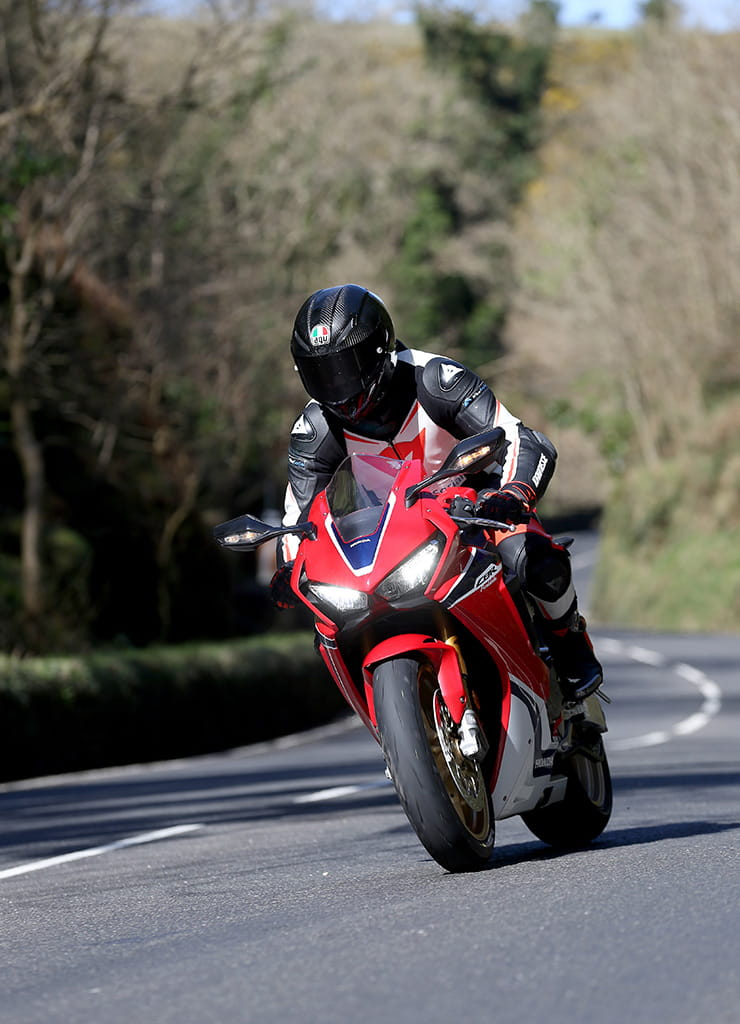 Honda Fireblade SP at Glen Helen, Isle of Man TT