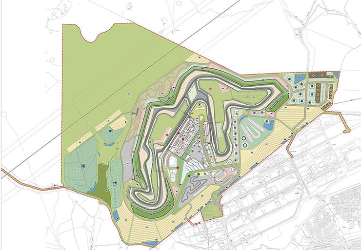 Overhead view of the Circuit of Wales layout