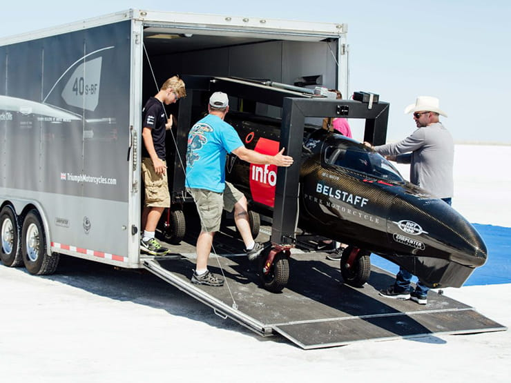 Unloading onto the iconic Bonneville salt falts