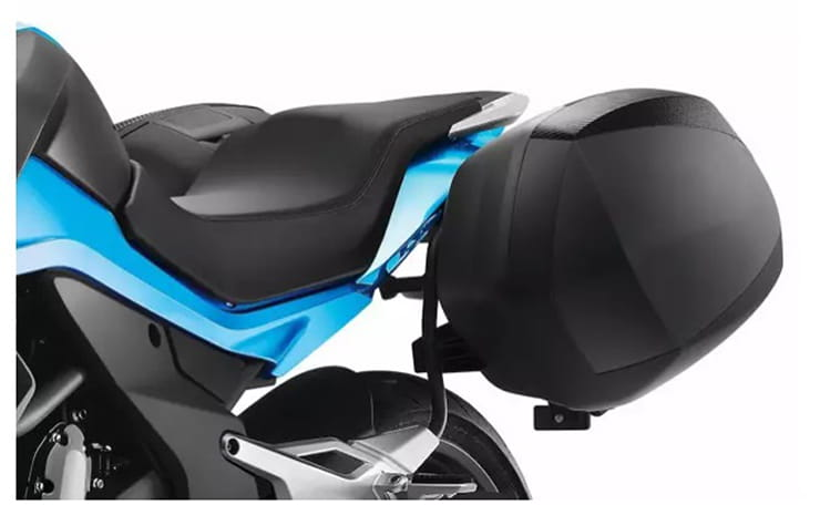Panniers of the CFMoto 650MT