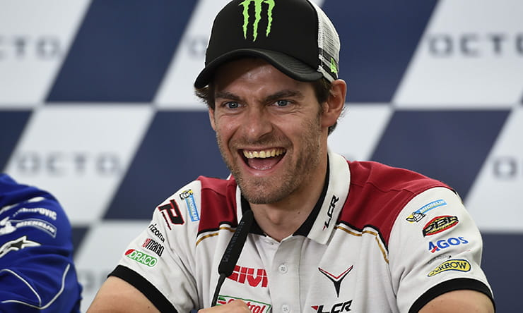 Cal Crutchlow was in high spirits in the pre-British GP press conference