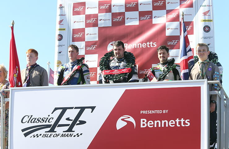 Dunlop, Harrison and Hillier on the podium